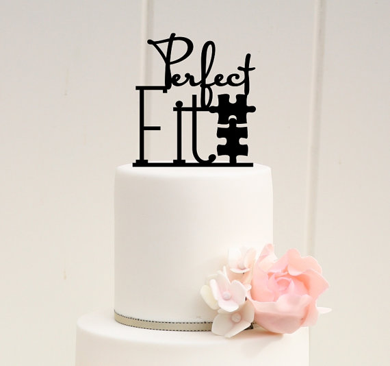Perfect Fit Puzzle Wedding Cake Topper Custom Cake Topper 2288331