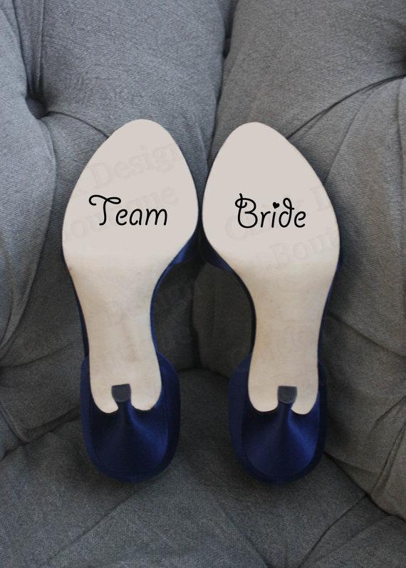 زفاف - Team Bride - Wedding Shoe Vinyl Decal