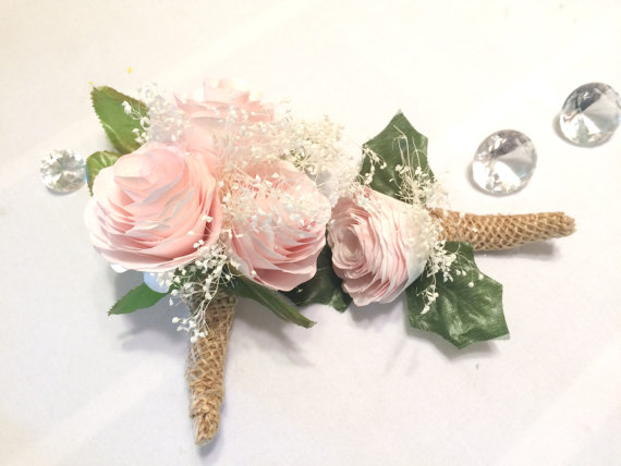 Peony boutonniere and corsage pink filter paper groom boutonniere peony boutonniere and corsage pink filter paper groom boutonniere prom corsage prom boutonniere fake flower corsages peony corsages mightylinksfo