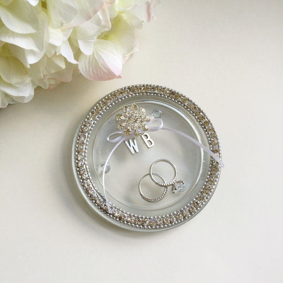 wedding ring dish rustic wedding ring holder ring bearer dish personalized ring bearer holder pillow alternative bling ring bearer - Wedding Ring Dish