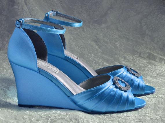 Wedding - Wedding Shoes - Custom 250 hand dyed Colors- PB103 Women's Bridal Wedge Shoes