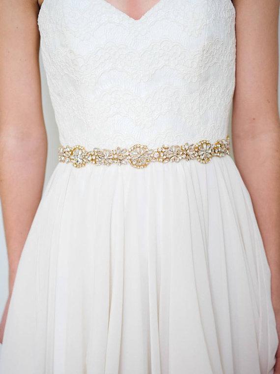Mariage - Gold Bridal Sash