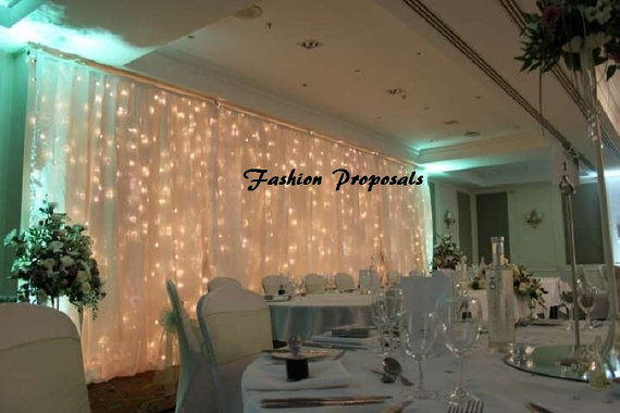 Свадьба - Led Backdrop Lights. Led Backdrops Drapes With Voile Organza  Wide By 10 Ft Long Complete Set