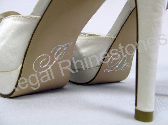 Свадьба - Hologram I Do Shoe Stickers - SILVER Glitter I Do Applique for Shoes - Wedding Shoe Stickers - I Do Decals