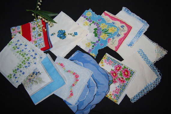 Свадьба - Vintage Hankie Collection Touch of Something Blue........Twelve