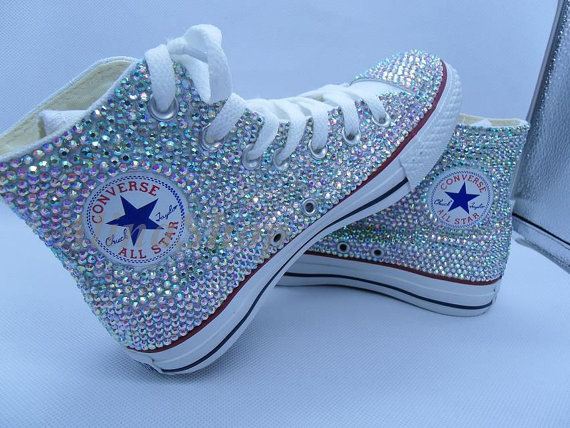a607c119089 AB bling Wedding Converse Shoes rhinestone sparkle Bridal Converse Shoes  crystal bling sneakers