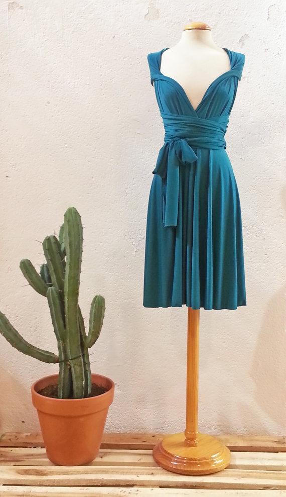 Teal Bridesmaids Dress, Turquoise Short Party Dress, Short Teal ...