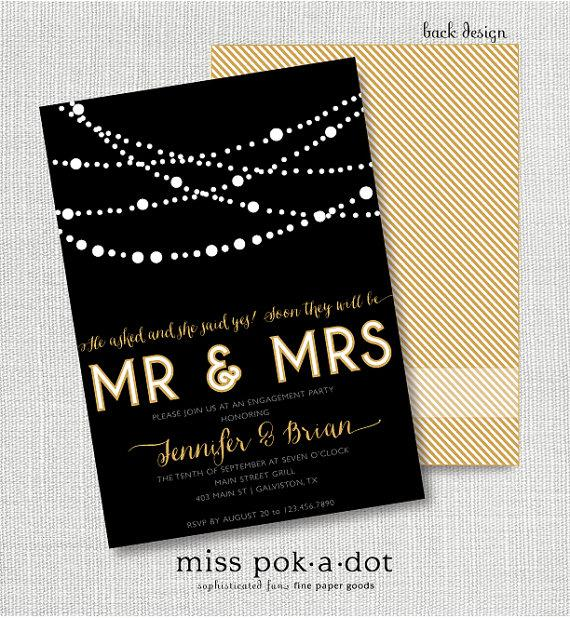 Elegant Black And Gold Engagement Party Invitation 2288791 Weddbook – Elegant Engagement Party Invitations