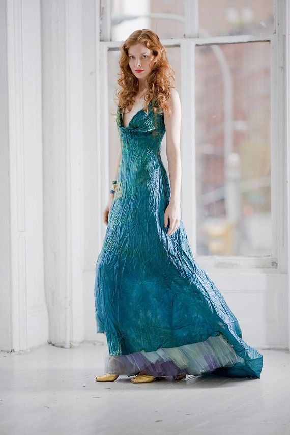 Wedding - Teal Blue Wedding This Is A Custom Order Dress For Your Wedding