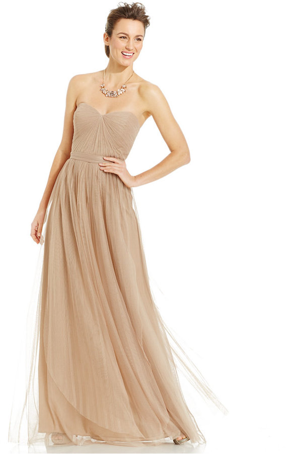 41862d95329e8 Adrianna Papell Pleated Strapless Tulle Gown #2289126 - Weddbook