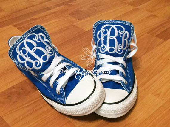 9894fde248008b Monogrammed Converse Low Top Fresh Colors