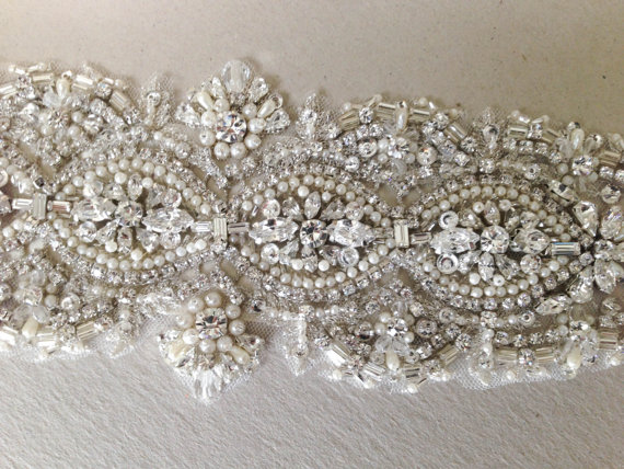 Mariage - Sashes for Wedding Dress - Jacy 12 inches ( Made to Order)