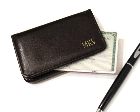 Milan Leather Business Card Case Great Gift For Your