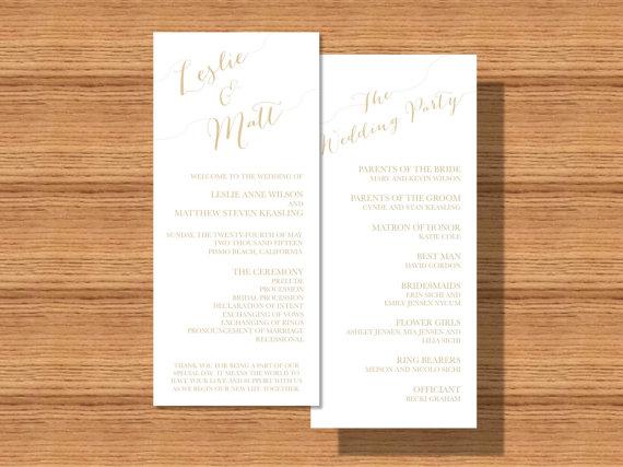 moderne hochzeits modern double sided wedding program 2289293
