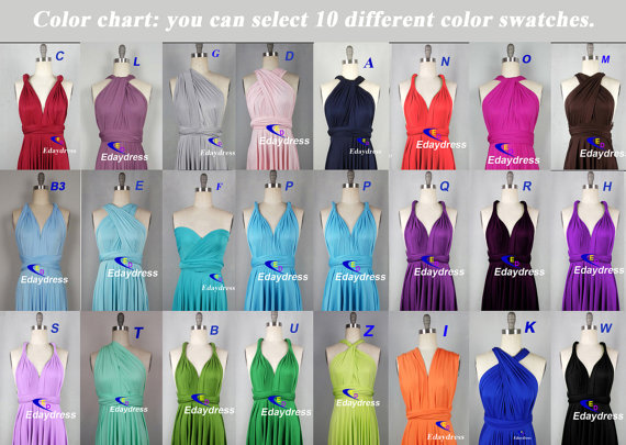 Fabric Swatch Color Swatches Samples For Convertible Wrap Infinity Dress Bridesmaid Dresses Wedding