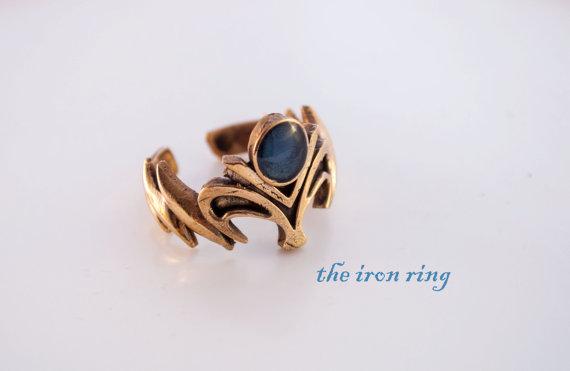 Mariage - Bronze Princess Zelda Inspired Ring, wedding, engagement, gift, adjustable