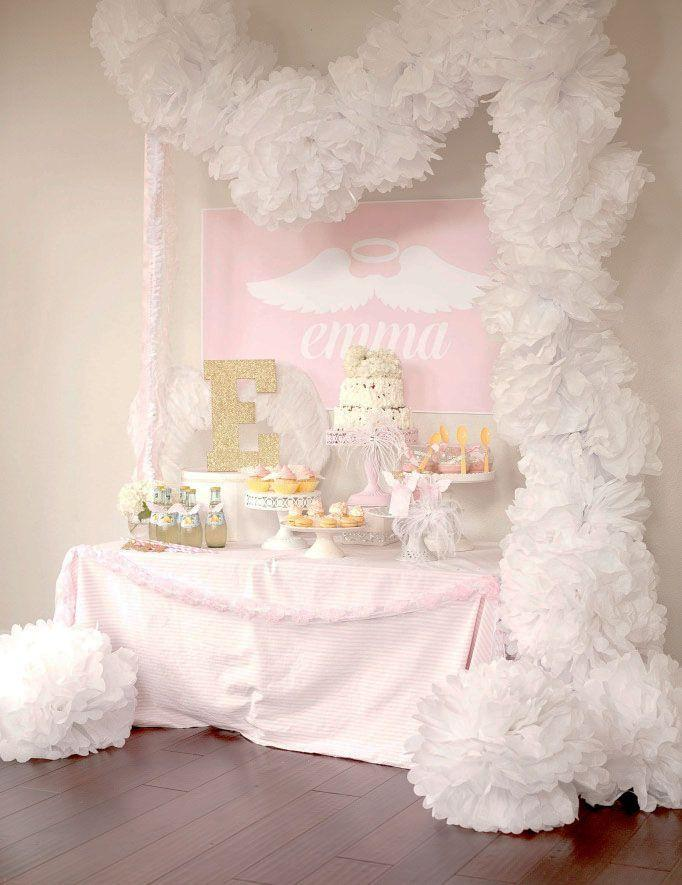 Wedding - Party Reveal: Little Angel First Birthday Party