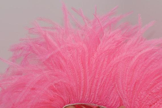 Hochzeit - NEW Color - 4 inches - Candy Pink Ostrich Fringe Trim