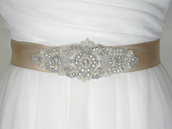Plus size wedding belt long bridal sash satin bridal for Satin belt for wedding dress