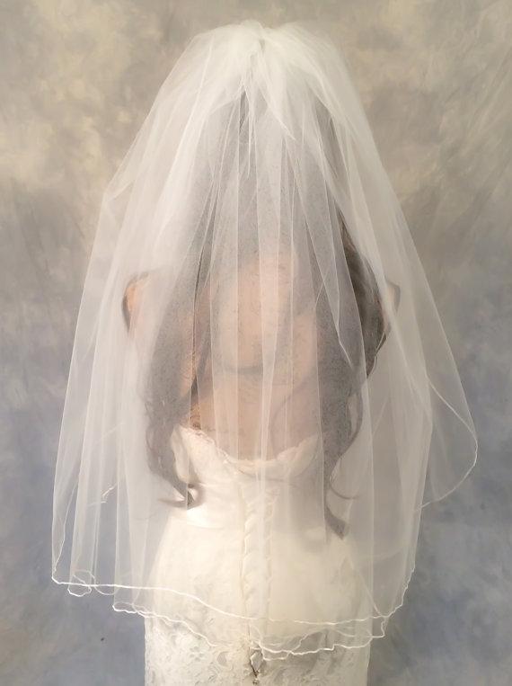 زفاف - Pencil Edge Wedding Veil