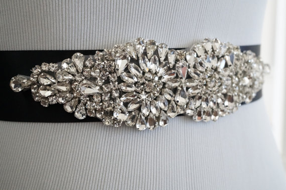 Mariage - Wedding Sash, Wedding Belt, Bridal Belt, Sash Belt, Crystal Rhinestone Belt, Style 145