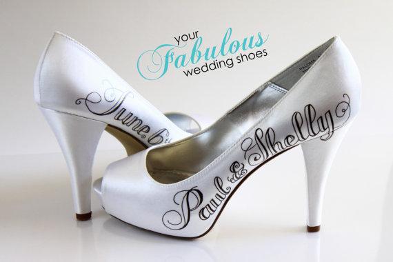 Mariage - Personalized Wedding Shoes, Custom Wedding Shoe, Custom High Heels, Shower Gift, Custom Shoes for the Bride, Best Wedding Shower Gift