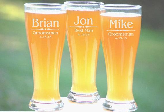 11 Groomsmen Pilsner Gles Personalized Beer Gl Engraved Mug Wedding Party Gifts For 16oz