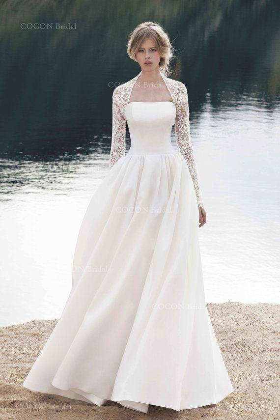 Long Sleeve Bolero/jacket Made From French Laces Romantic Bolero ...