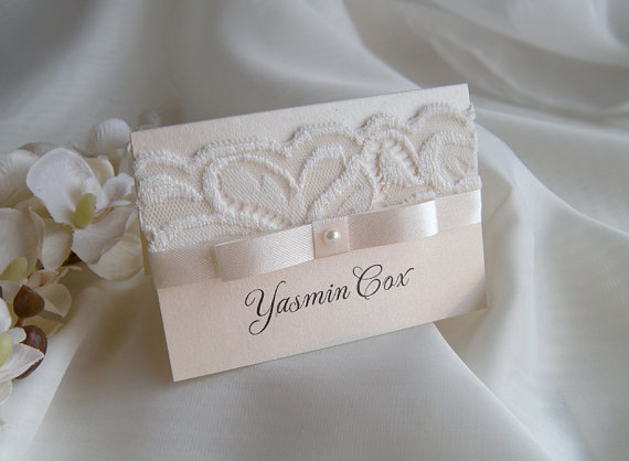 Place Cards Sample Place Cards Name Card White Wedding Place