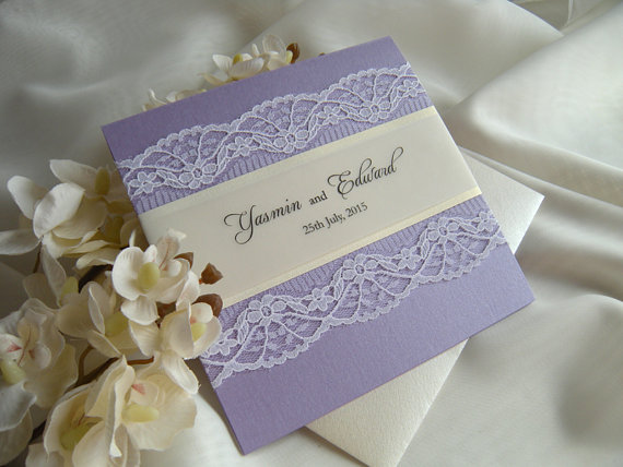 rustic wedding invitation lace wedding invitation gold wedding