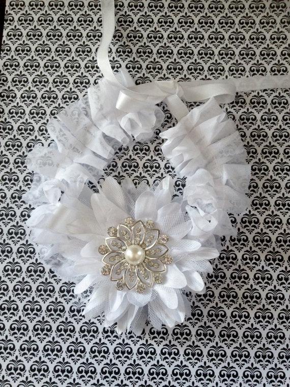 زفاف - DOG WEDDING FLOWER - White Flower tie on collar, White chiffon, one size fits most ,diva dog, Fancy, Weddng, Photos, Affordable fashion