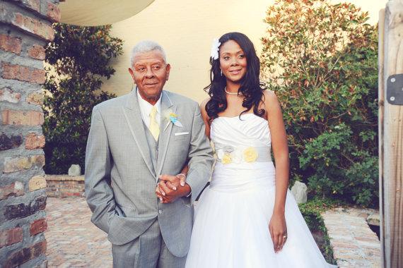 زفاف - Gray, Yellow & White Wedding Sash, Gray and Yellow Bridal Sash, Gray Wedding Belt, Gray and Yellow