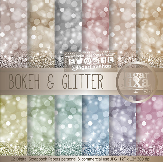 Свадьба - Bokeh Glitter Digital paper, Patterns, Silver, Pink, Blue, Green, lilac, purple, turquoise, Gold, greetings cards holidays, blog