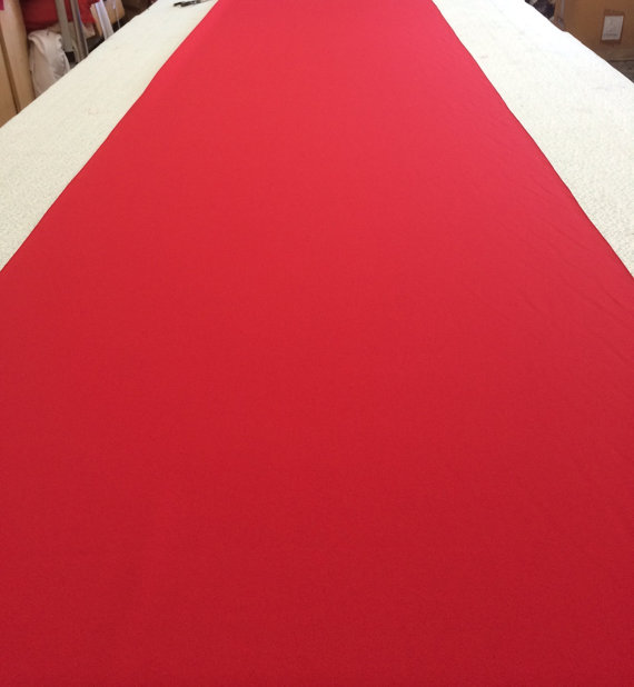 Bright Xmas Red Custom Made Aisle Runner 50 Feet Long 36 Inches Wide Red Carpet Premier