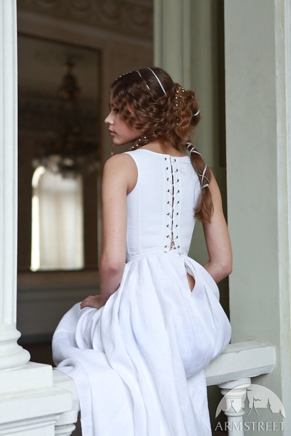 "Mariage - Medieval Boned Corset and Skirt ""Beautiful Juliette""; ren corsage; wedding corset"