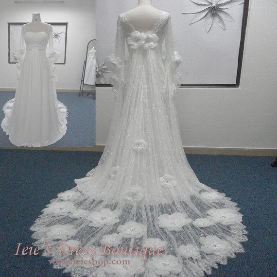 Свадьба - Vintage Retro Medieval Inspired Waterlilly Wedding Dress