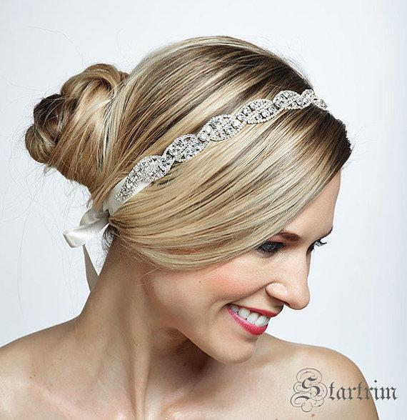 Mariage - ROMA crystal wedding bridal headband