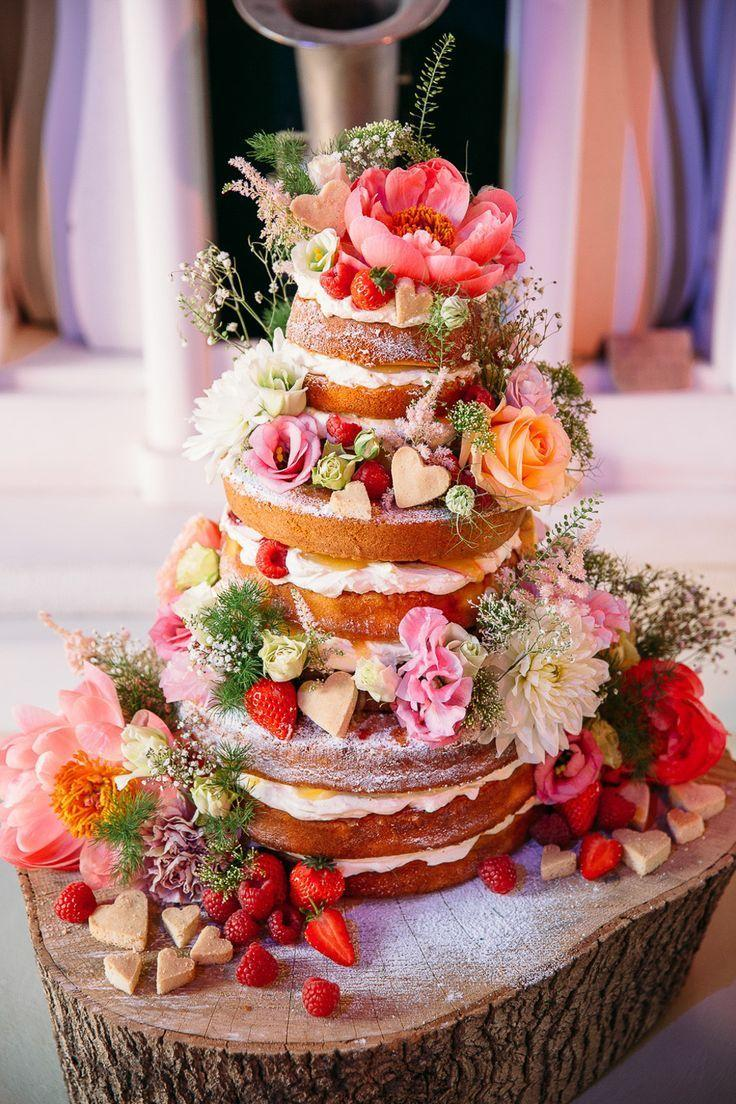 Свадьба - 49 Naked Wedding Cake Ideas For Rustic Wedding