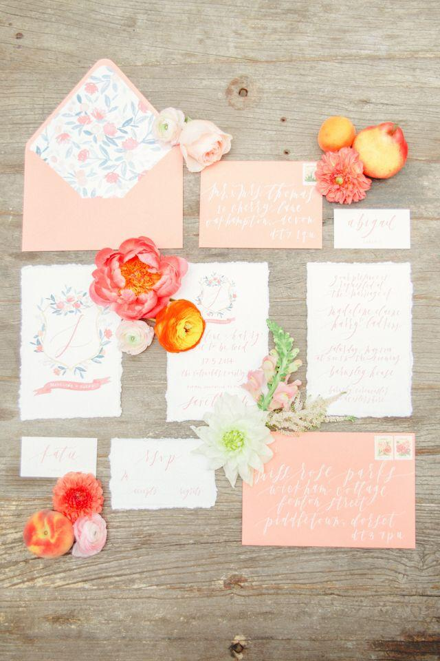 Boda - Coral And Peach Wedding Editorial