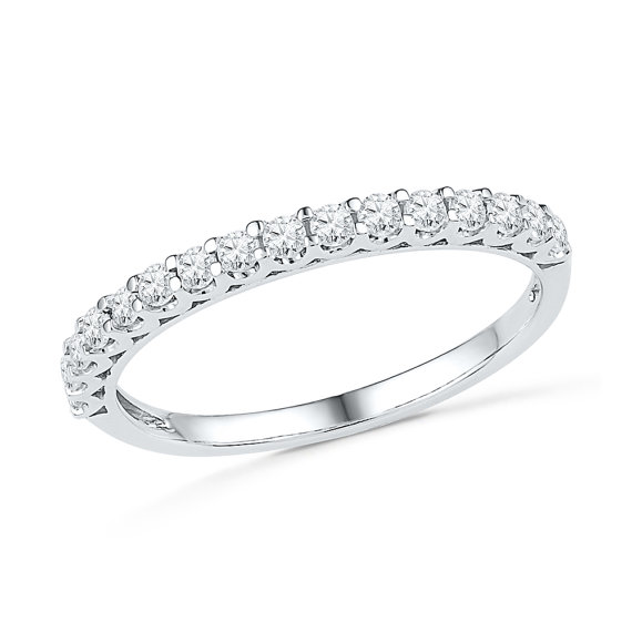 Mariage - Diamond Wedding band with 2/5 CT. T.W. in White Gold or Sterling Silver