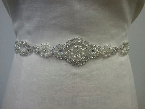 Mariage - Wedding Belt, Bridal Belt, Sash Belt, Crystal Rhinestone - Style B121