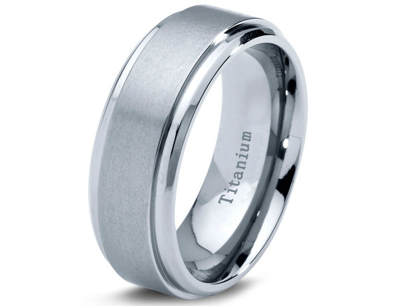 Mens Wedding Bands Titanium.Titanium Wedding Band Men Titanium Rings Mens Wedding Band
