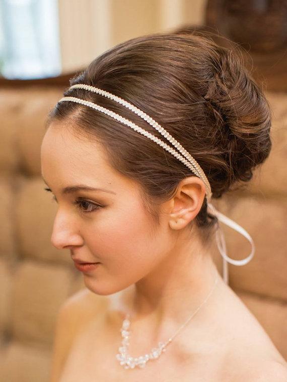 Hochzeit - Double Bridal Headband