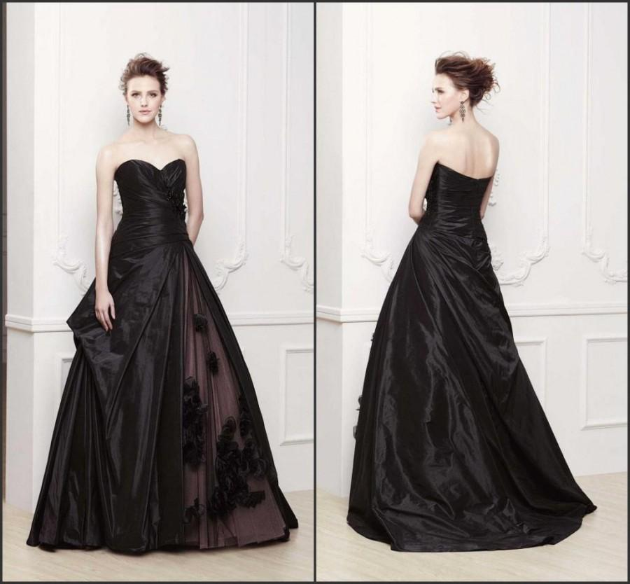 Sweetheart Black Ball Dresses for Party