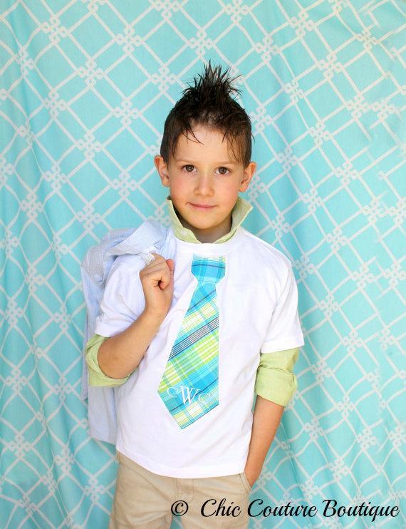 زفاف - Summer Wedding Tie, Ring Bearer Tie NON Personalized Listing. Boy's Tie Tee T-shirt.  Matching  Children Clothing, Plaid Birthday