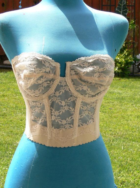 Mariage - cream  strapless  size 36c