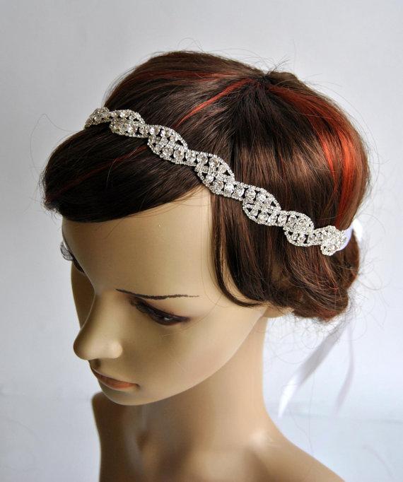 Rhinestone Headband, Great Gatsby Headband, Crystal Headband ...