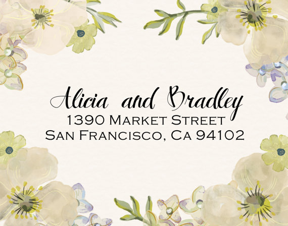 Mariage - Return Address Stamp, Self Inking Stamp, Custom Rubber Stamp, Custom Address Stamp, Pre-Inked Stamp - Housewarming, Wedding Shower Gift