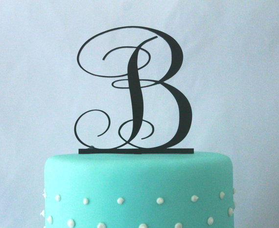 Wedding - 50% OFF TODAY Monogram Wedding Cake Topper - Acrylic Cake topper