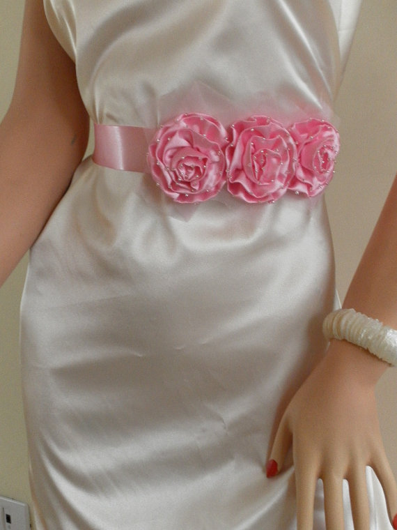 Hochzeit - Bridal sash, bridal belt, wedding belt, bridesmaids belt, wedding sash